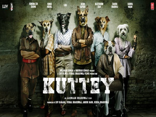 First poster of 'Kuttey' (Image source: Twitter)