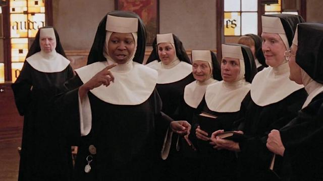 Whoopi in witness protection as a nun. Nuff said. (Photo: Buena Vista Pictures)