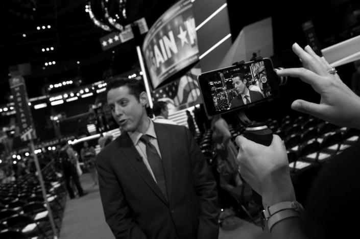 <p>ABC News head on camera as part of a 3 camera shoot at the Republican National Convention Thursday, July 21, 2016, in Cleveland, OH. (Photo: Khue Bui for Yahoo News)</p>