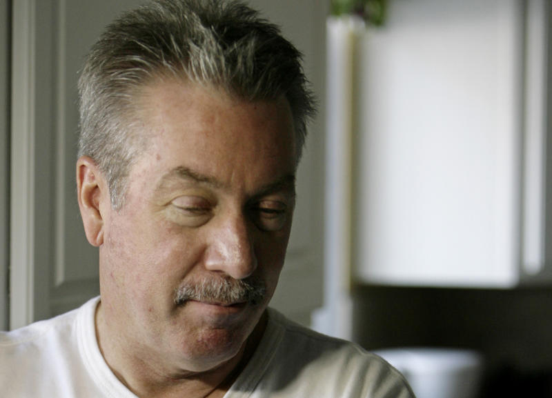FILE - In this file photo taken March 20, 2008 in Bolingbrook, Ill., Drew Peterson, who is on trial for the murder of his third wife, Kathleen Savio who died in 2004, reflects on the 2007 disappearance of his fourth wife, Stacy Peterson. Peterson's ongoing murder trial is heavily based on hearsay evidence and has been complicated by a series of blunders by the prosecution team. As the trial heads into its fourth week, it is anyone's guess which legal team holds the upper hand. Peterson is also a suspect in the 2007 disappearance of his fourth wife, Stacy, but never has been charged in her case. (AP Photo/M. Spencer Green, File)