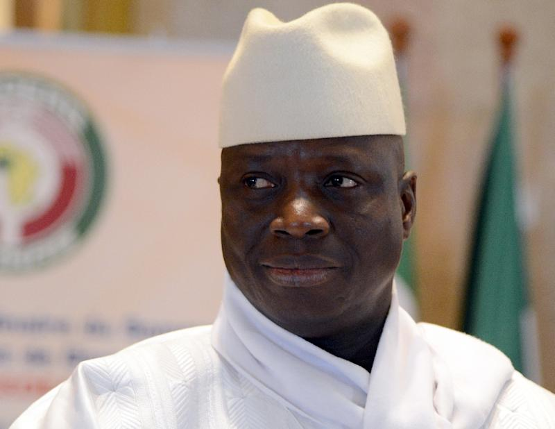 Arms and ammunition were found at ex-president Yahya Jammeh's private residence in his home village of Kanilai by military forces