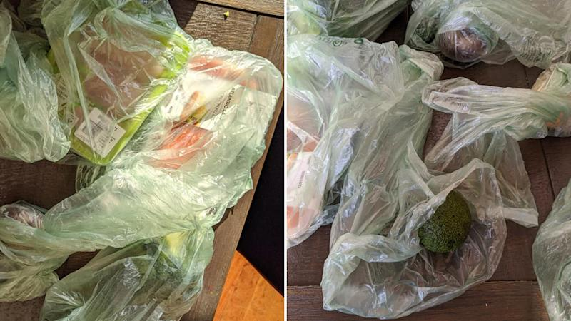 Woolworths delivery in plastic bags