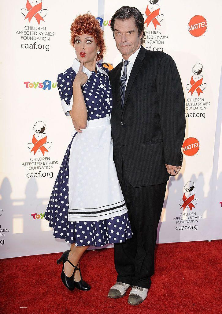 <p>Lisa Rinna didn't come to play when she morphed into Lucy from <em>I Love Lucy</em> and husband, Harry Hamlin, suited up as Ricky Ricardo in 2010.</p>
