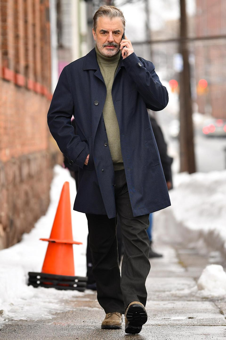 <p>Chris Noth was seen on the set of <em>The Equalizer</em> in Patterson, New Jersey.</p>