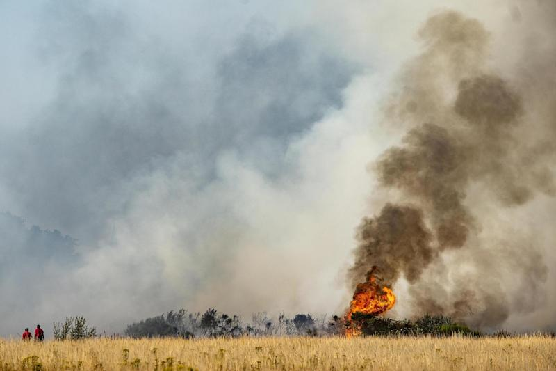 Firefighters have tackled a series of grass fires including a huge blaze on Wanstead Flats last weekend: PA Wire/PA Images