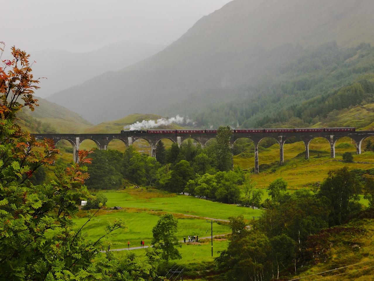 <p>Recognise this railway from somewhere? This is where the Hogwarts Express transported Harry Potter in the second and third films, and the route is as beautiful as it is on the screen. [Photo: Flickr/pollonfi] </p>