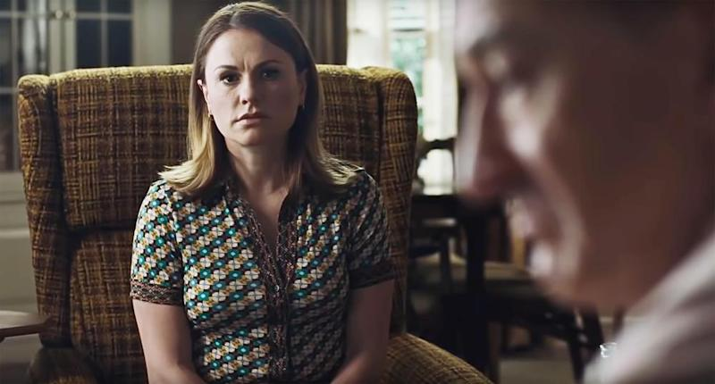 Anna Paquin as Peggy Sheeran, a significant yet largely silent presence in the film.