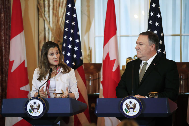 Freeland demands China release detained Canadians