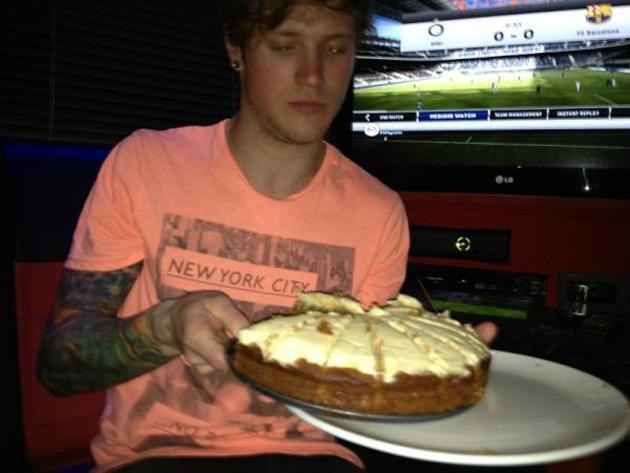 Celebrity photos: Dougie Poynter proved himself to be the dream man this week. Not only is he hot and talented, but he also baked a cake in his spare time. His girlfriend is one lucky lady.