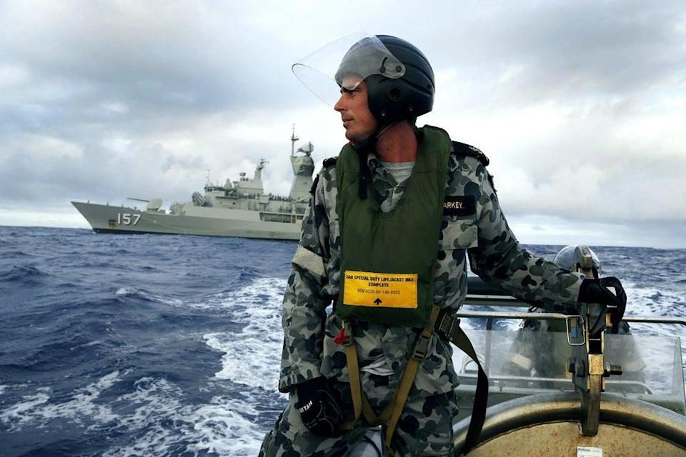 Search operation: The Australian Department of Defence searching for MH370.  (Handout)