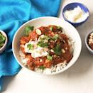 """<p>This easy instant pot chicken and <a href=""""https://www.delish.com/uk/cooking/recipes/g32287806/butternut-squash-recipes/"""" rel=""""nofollow noopener"""" target=""""_blank"""" data-ylk=""""slk:butternut squash"""" class=""""link rapid-noclick-resp"""">butternut squash</a> curry is seasoned with cumin, coriander, sweet paprika, cinnamon, cloves, ginger, and cayenne. We like to serve it with a big dollop of whole milk yogurt and sliced almonds over rice. </p><p>Get the <a href=""""https://www.delish.com/uk/cooking/recipes/a34793853/instant-pot-chicken-curry-recipe/"""" rel=""""nofollow noopener"""" target=""""_blank"""" data-ylk=""""slk:Instant Pot Butternut Squash-Chicken Curry"""" class=""""link rapid-noclick-resp"""">Instant Pot Butternut Squash-Chicken Curry</a> recipe.</p>"""