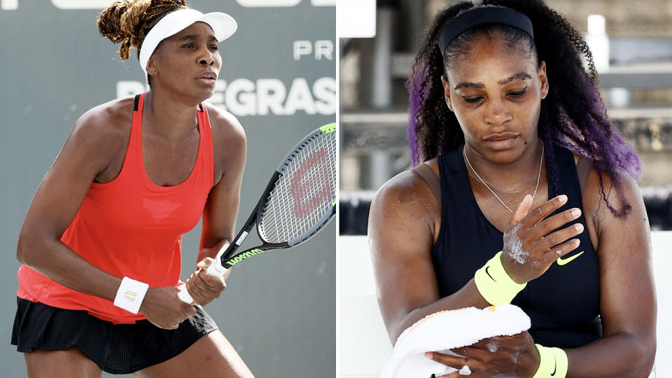 Venus and Serena Williams, pictured here in action at the Top Seed Open.