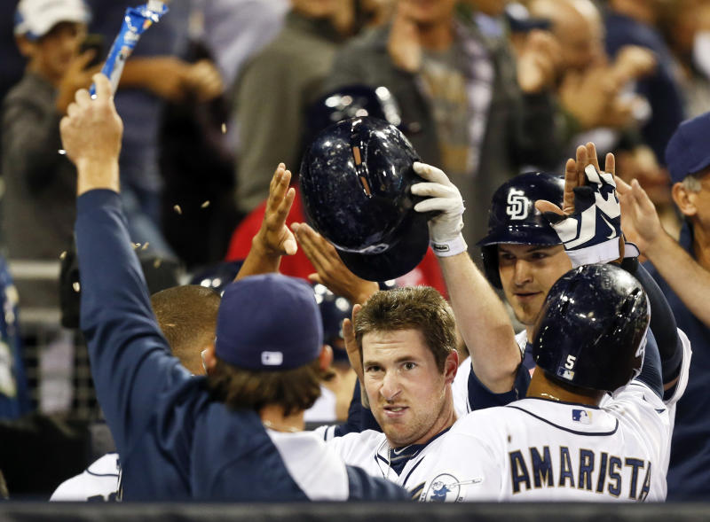 Gyorko powers Padres past Marlins 10-1