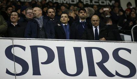Britain Football Soccer - Tottenham Hotspur v Chelsea - Premier League - White Hart Lane - 4/1/17 Tottenham chairman Daniel Levy with his son and England manager Gareth Southgate in the stands Action Images via Reuters / Andrew Couldridge/ Livepic/ Files