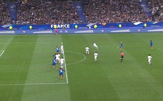 <span>Griezmann's header was ruled out for offside</span> <span>Credit: ITV </span>