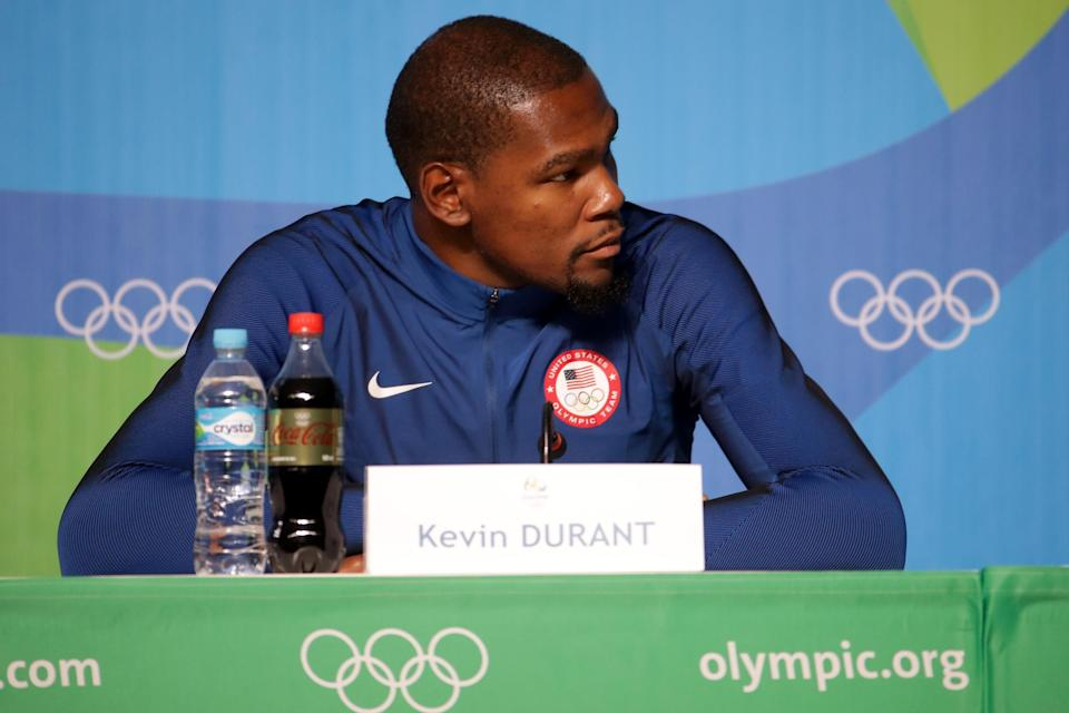Kevin Durant will help lead Team USA in the Olympics in Rio. (Getty Images)
