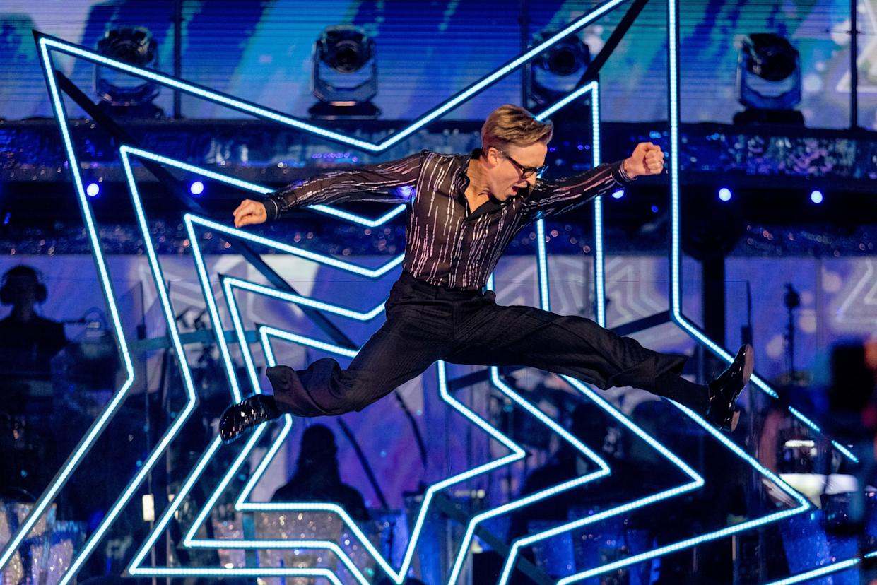 Programme Name: Strictly Come Dancing 2021 - TX: 18/09/2021 - Episode: Strictly Come Dancing - Launch Show (No. n/a) - Picture Shows:  Tom Fletcher - (C) BBC - Photographer: Guy Levy