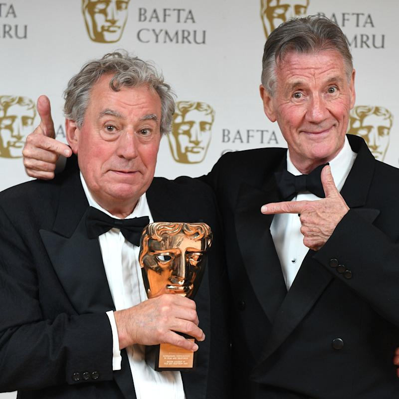 Michael Palin with Terry Jones winner of Outstanding Contribution To The Film And Television Award BAFTA Cymru Awards - Copyright (c) 2016 Rex Features. No use without permission.