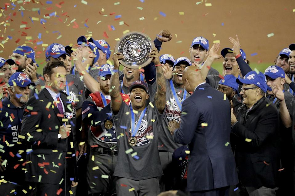Marcus Stroman helped carry the United States to its first World Baseball Classic title. (AP)