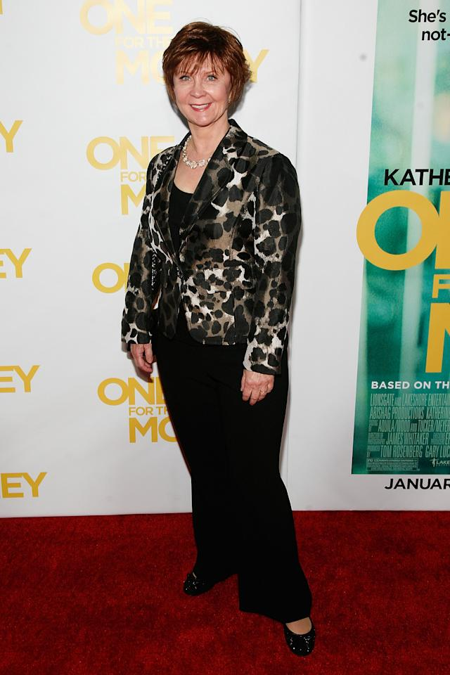 "NEW YORK, NY - JANUARY 24:  Janet Evanovich attends the ""One for the Money"" premiere at the AMC Loews Lincoln Square on January 24, 2012 in New York City.  (Photo by Andy Kropa/Getty Images)"