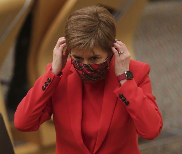 First Minister Nicola Sturgeon arriving to update MSPs on any changes to the Covid-19 regulations in Scotland after the Christmas period at the Scottish Parliament in Holyrood, Edinburgh