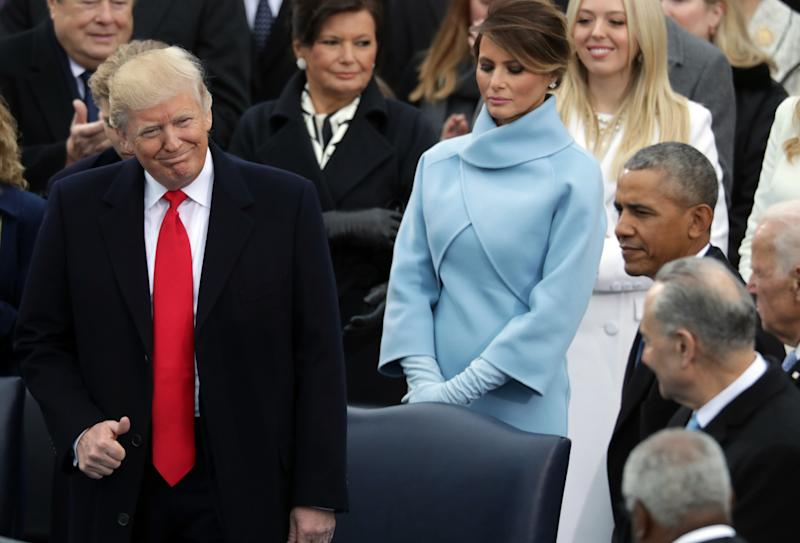 Melania Trump Smiles at Barack Obama When President Isn't There And the Internet Loves It
