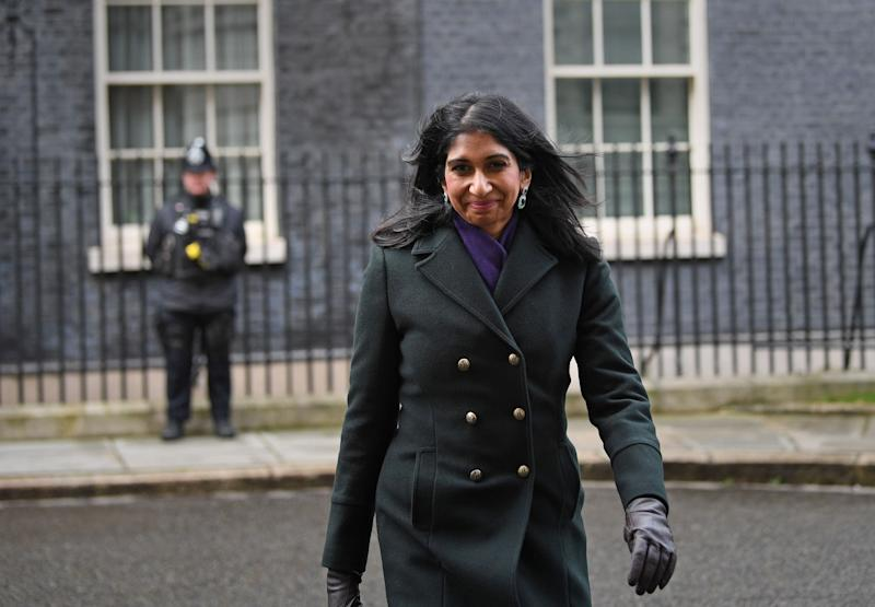 Newly appointed Attorney General Suella Braverman leaving Downing Street (Photo: PA)
