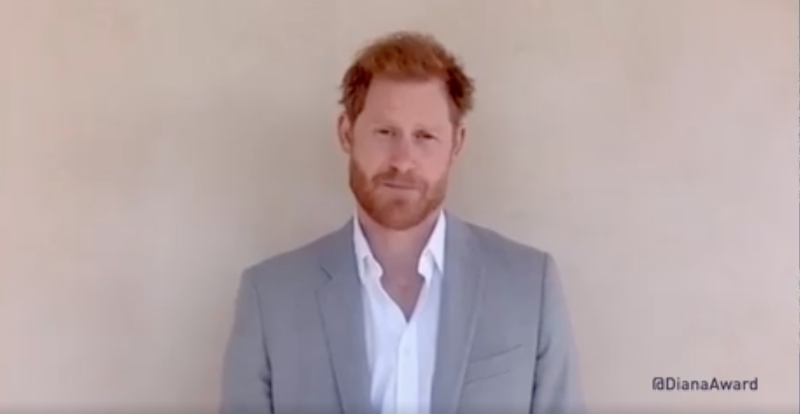 Prince Harry talking to camera