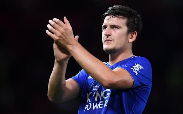 Weak link: Leicester defender Harry Maguire is called slow