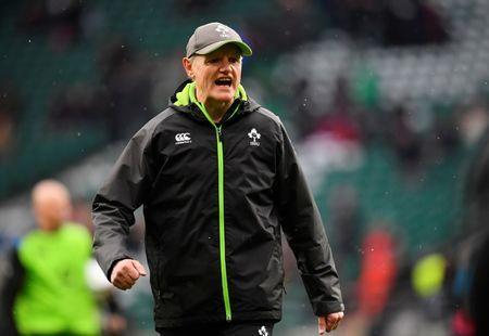 FILE PHOTO: Rugby Union - Six Nations Championship - England vs Ireland - Twickenham Stadium, London, Britain - March 17, 2018 Ireland head coach Joe Schmidt during the warm up before the match REUTERS/Toby Melville