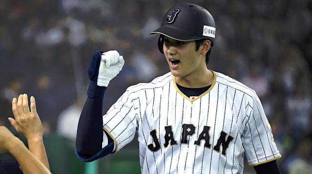 "Shohei Ohtani is preparing for the challenge of Major League Baseball by studying video of <a class=""link rapid-noclick-resp"" href=""/mlb/players/8875/"" data-ylk=""slk:Bryce Harper"">Bryce Harper</a>. (AP)"