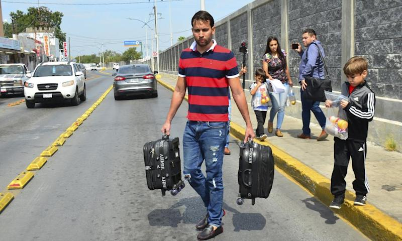 The Ascencio family, from Venezuela, were returned by US authorities to Nuevo Laredo, Mexico last week.