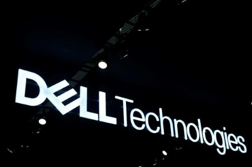 The Dell Technologies logo is displayed at the Mobile World Congress (MWC) in Barcelona on February 26, 2019.Phone makers will focus on foldable screens and the introduction of blazing fast 5G wireless networks at the world's biggest mobile fair as they try to reverse a decline in sales of smartphones