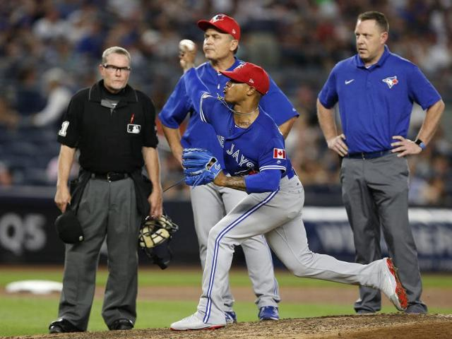 Blue Jays starter Marcus Stroman was one of several pitchers impacted by blister issues during the 2017 season. (AP)