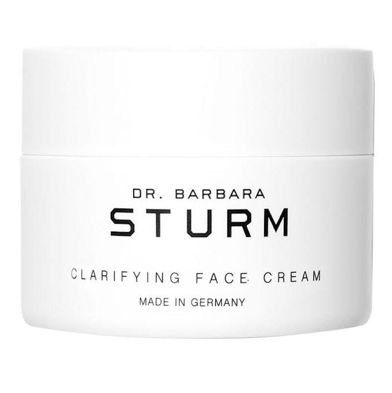 """<p>Having oily skin doesn't mean you <em>have to</em> use only extra-light gels. This Clarifying Face Cream by <a href=""""https://www.allure.com/story/victoria-beckham-harper-facial-barbara-sturm?mbid=synd_yahoo_rss"""" rel=""""nofollow noopener"""" target=""""_blank"""" data-ylk=""""slk:celebrity-loved Dr. Barbara Sturm"""" class=""""link rapid-noclick-resp"""">celebrity-loved Dr. Barbara Sturm</a> packs breakout-fighting features into a richer moisturizing formula. Specifically, its zinc keeps sebum under control so you won't look greasy or spotty, and some of the most interestingly named botanicals we've seen in an ingredient list — balloon vine and viper's bugloss, anyone? — ensure an ideal moisture balance.</p> <p><strong>$215</strong> (<a href=""""https://www.sephora.com/product/dr-barbara-sturm-clarifying-face-cream-P448558"""" rel=""""nofollow noopener"""" target=""""_blank"""" data-ylk=""""slk:Shop Now"""" class=""""link rapid-noclick-resp"""">Shop Now</a>)</p>"""