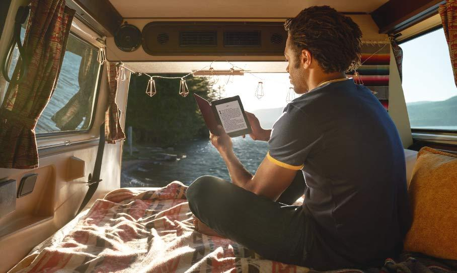 Travel light with your new Kindle Paperwhite — and have a world of titles at your fingertips. (Photo: Amazon)
