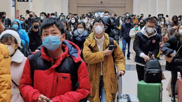 PHOTO: People wear face masks as they wait at Hankou Railway Station on January 22, 2020 in Wuhan, China. (Stringer/Getty Images)