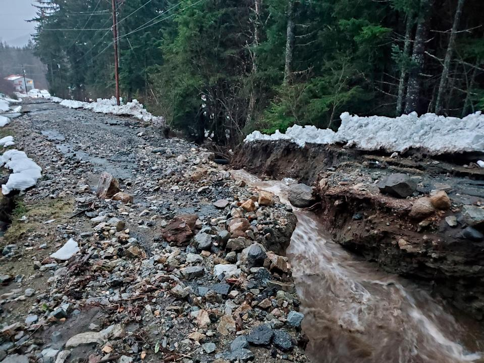 Landslides in Alaska, where six people are reported missing (AP)
