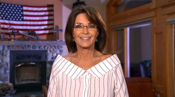 PHOTO: Former Republican vice presidential candidate Sarah Palin speaks on 'Good Morning America' about her interview with Sacha Baron Cohen for his Showtime series. (ABC)
