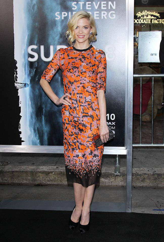 "<a href=""http://movies.yahoo.com/movie/contributor/1800157425"">Jaime King</a> at the Los Angeles premiere of <a href=""http://movies.yahoo.com/movie/1800063512/info"">Super 8</a> on June 8, 2011."