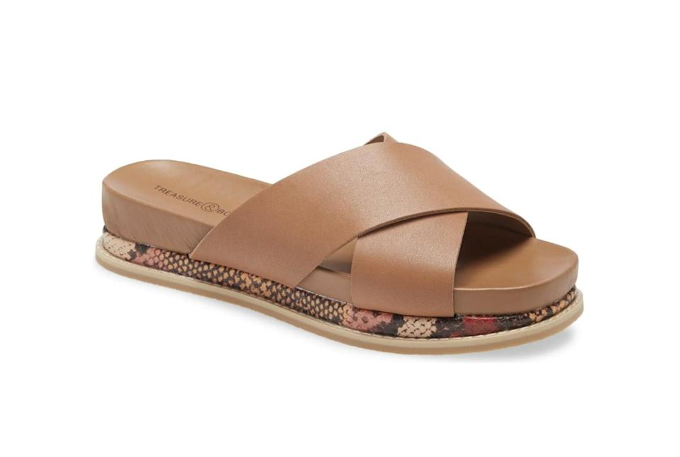 <p>These <span>Treasure &amp; Bond Carter Platform Slide Sandals</span> ($24, originally $60) feature a padded wedge for extra comfort.</p>