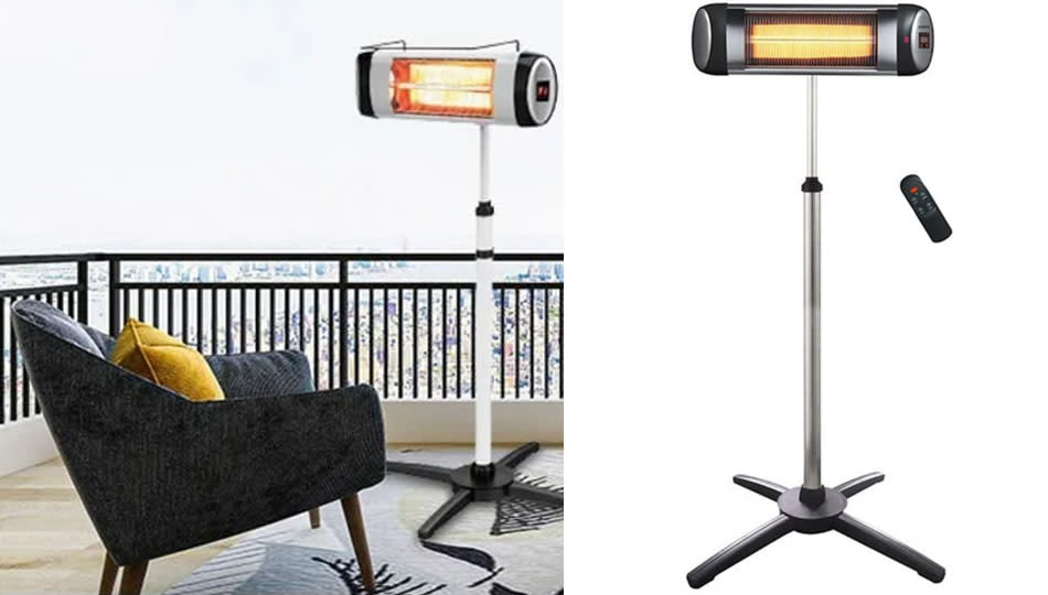 This electric patio heater is just $100 right now! (Photo: Wayfair)