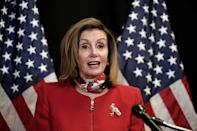 US Speaker of the House Nancy Pelosi praised the victory of her Democrats in controlling the chamber for another two years