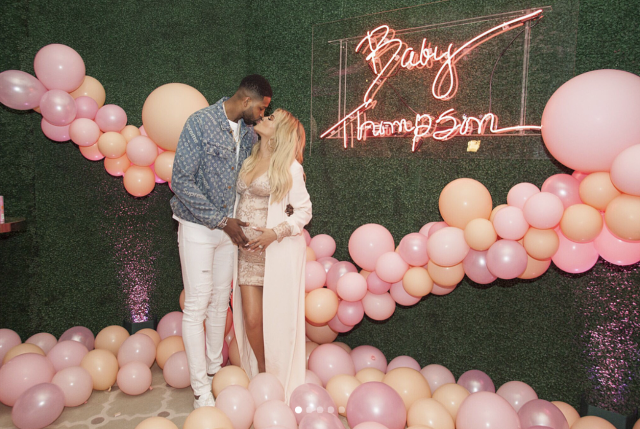 "<p>The mama-to-be and her love, Tristan Thompson, celebrated the upcoming birth of their baby girl with a plethora of pink. ""Where do I even begin?!?! How do I even begin to give thanks and praise to ALL of the people who took part in helping create the most incredible baby shower? @jeffleatham and his ENTIRE team and @mindyweiss and her ENTIRE team, THANK YOU for creating the most magical memories I get to keep for the rest of my life!"" the grateful <em>Revenge Body</em> host gushed. Details included an arch of pink roses, an elephant topiary, a sea of balloons, and a lit ""Baby Thompson"" sign in grandma Kris Jenner's handwriting. ""WOW, is truly all I can say! They say 'love is in the details', I couldn't agree more! Look at all the LOVE! Love was involved! I wish I could post every single picture! I'm still dreaming."" (Photo: <a href=""https://www.instagram.com/p/BgNI-cLBWum/?taken-by=khloekardashian"" rel=""nofollow noopener"" target=""_blank"" data-ylk=""slk:Khloe Kardashian via Instagram"" class=""link rapid-noclick-resp"">Khloe Kardashian via Instagram</a>) </p>"