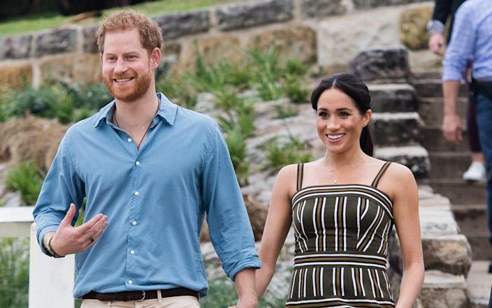 Harry and Meghan in Australia in 2018 – a world away from their New York trip in every sense - Getty
