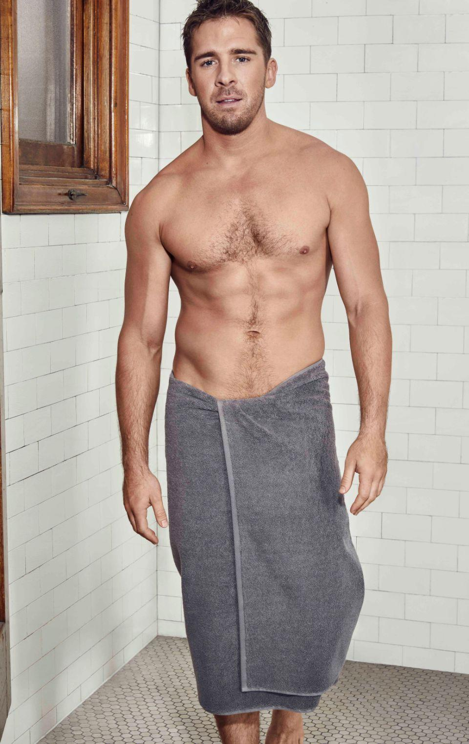With a surname like his, it's no surprise that Hugh Sheridan has become the new face of the Sheridan's towel campaign. Source: Supplied