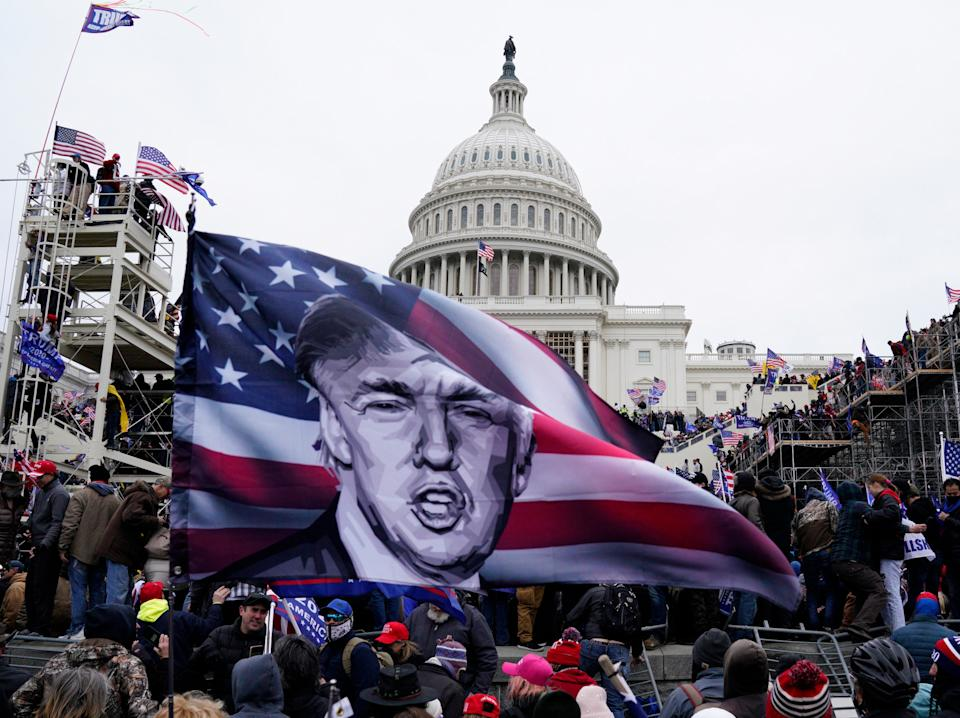 <p>Trump supporters storm the US Capitol in his name</p> (EPA-EFE)