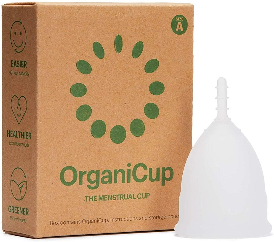 <p>The <span>OrganiCup Menstrual Cup</span> ($20) is AllergyCertified, which means it has been reviewed by a toxicologist to ensure its free of known allergens. Available in three different sizes (mini, small, and large), these cups are made of medical-grade silicone, are free of color additives, and hold the equivalent of about three tampons. While the ridged stem is meant to make the cup easier to remove, some reviewers noted having to trim it for more comfort, though others were not bothered with its design.</p>