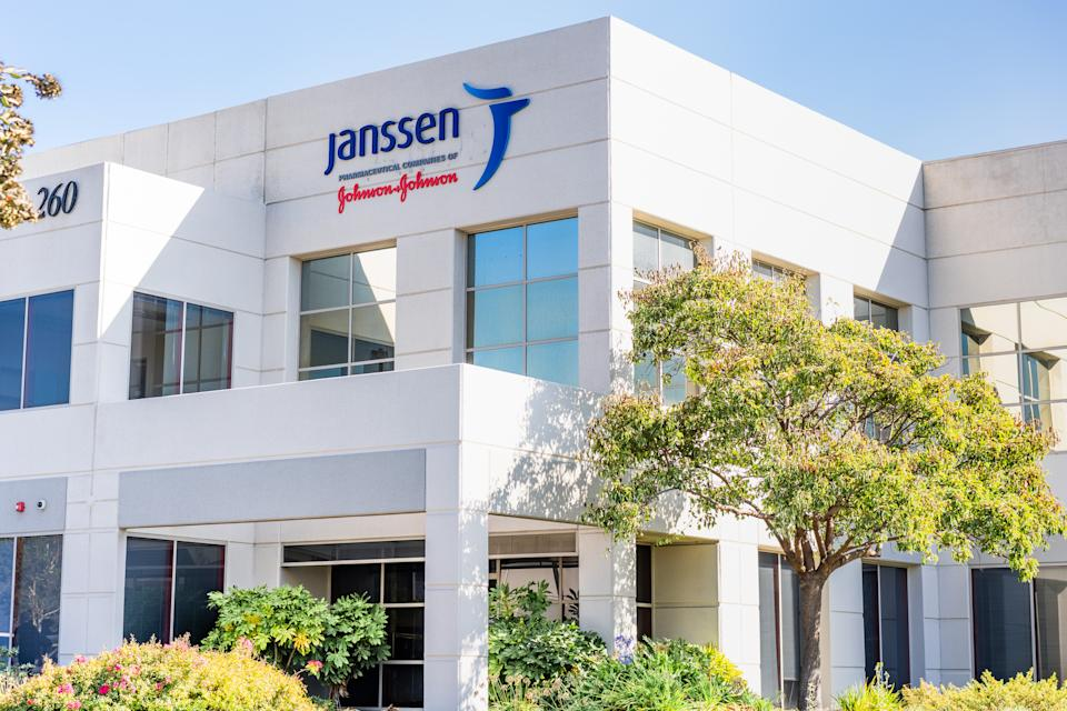 Sep 21, 2020 South San Francisco / CA / USA - Janssen headquarters in Silicon Valley; Janssen Research and Development, part of Johnson & Johnson, is currently developing a vaccine against COVID-19