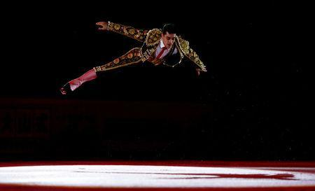 FILE PHOTO: Javier Fernandez of Spain performs during the exhibition gala at the Rostelecom Cup ISU Grand Prix of Figure Skating in Moscow, Russia, November 22, 2015. REUTERS/Maxim Shemetov/File Photo